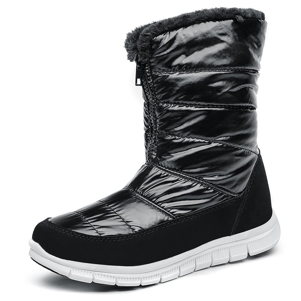 SHAKE Women's Cold Weather Waterproof Snow Boots for Women Lightweight Insulation Winter Shoes Fur Lining