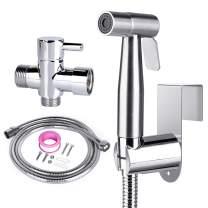 Bidet Sprayer for Toilet, Handheld Baby Cloth Diaper Sprayer, Stainless Steel Spray Attachment with 59 inch Hose, Full Pressure & Leakproof Bidet Toilet Sprayer Kit for Bathroom Pet Feminine Hygiene
