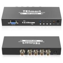 TESmart 4 Ports 4x1 Premium Quality SDI Switch 4 in 1 Out Supports SD-SDI, HD-SDI, 3G-SDI