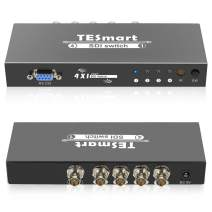 TESmart 4 Ports 4x1 Premium Quality SDI Switch 4 in 1 Out Supports SD-SDI, HD-SDI, 3G-SDI