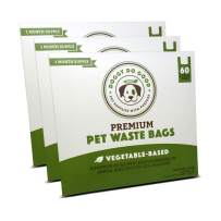 Biodegradable Poop Bags | Dog Waste Bags, Unscented with Easy-tie Handles, Vegetable-Based & Eco-Friendly, Premium Thickness & Leak Proof, Easy Open, Supports Rescues (3-Pack (180 ct))