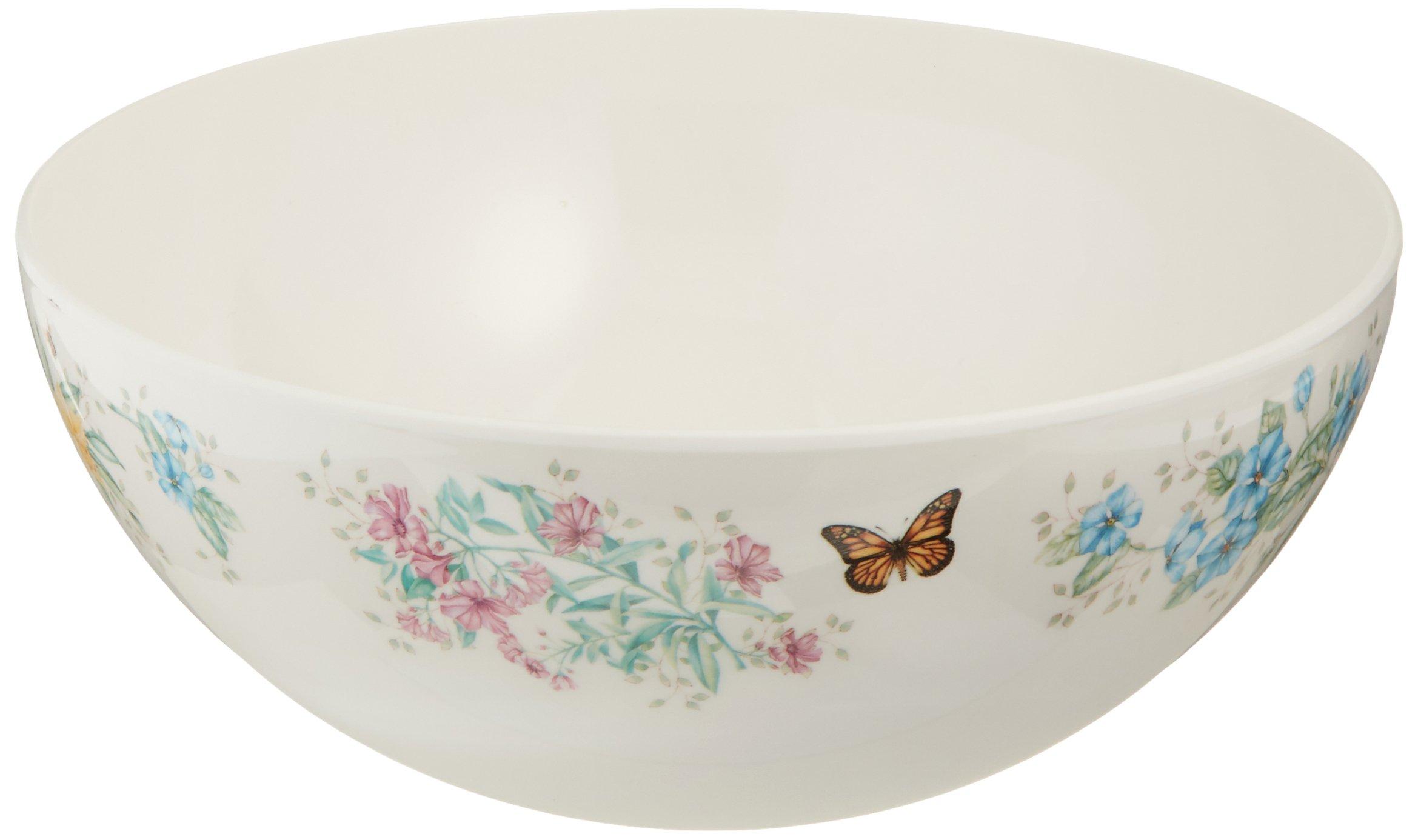 Lenox Butterfly Meadow Melamine Salad Bowl, 0.1 LB, Multi
