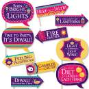 Big Dot of Happiness Funny Happy Diwali - Festival of Lights Party Photo Booth Props Kit - 10 Piece