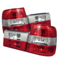 Spyder Auto ALT-YD-BE3488-RC BMW E34 5-Series Red/Clear Altezza Tail Light