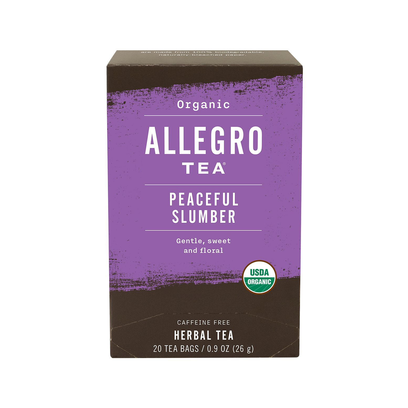 Allegro Tea, Organic Peaceful Slumber Tea Bags, 20 ct