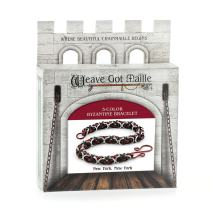 Weave Got Maille 3-Color Byzantine Chain Maille Bracelet Kit, New York New York