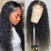 NEWYOU 18 inch Deep Wave Transparent Lace Front Wigs Human Hair for Black Women 13x4 Brazilian Deep Curly Wet and Wavy Lace Front Wig with Baby Hair Loose Deep Wave Frontal Wig