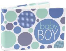Malden International Designs Baby Boy Photo Album, 40-4x6, White