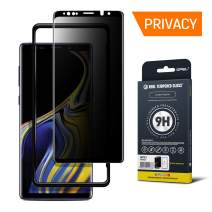 GPEL Privacy Screen Protector Compatible for Galaxy Note 9 Real Tempered Premium Japanese Asahi Glass w/Applicator Anti Spy Case-Friendly HD Clarity 9H Hardness 99% Touch Accurate