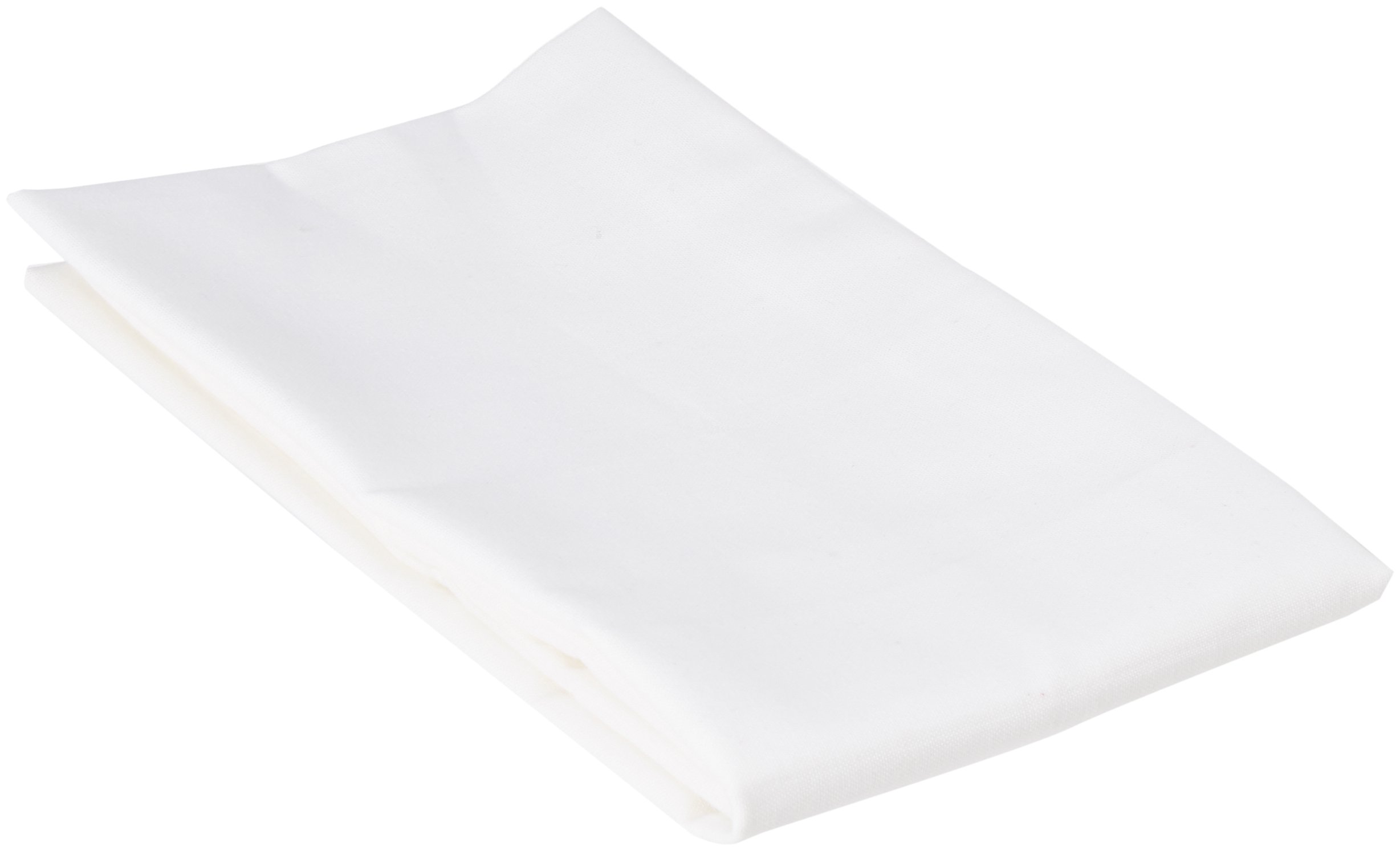 SheetWorld - Baby Pillow Case - Percale Pillow Case - Light Solids - White - Made In USA