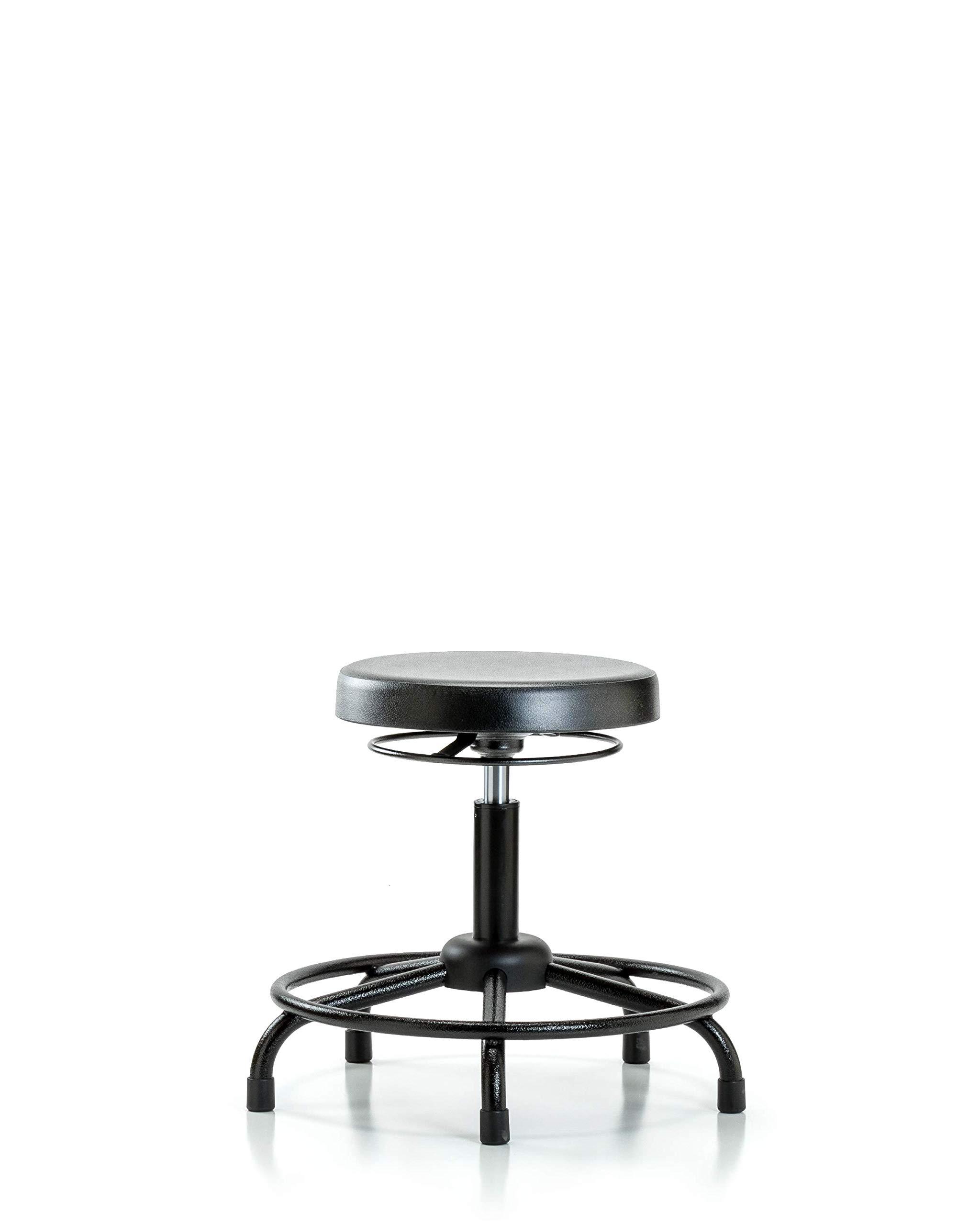 LabTech Seating LT43679 Desk Height Stool, Polyurethane, Round Tube Base - Glides