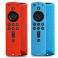 [2 Pack] Cover for Fire Stick Remote - Case for 2nd Gen Alexa Voice Remote (Red and Blue)