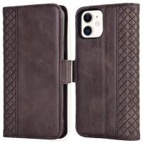 Tianniuke iPhone 11 Wallet Case, Genuine Leather iPhone 11 Flip Case RFID Blocking Card Slot Kickstand Case for iPhone 11 6.1-inch (2019) (Brown)