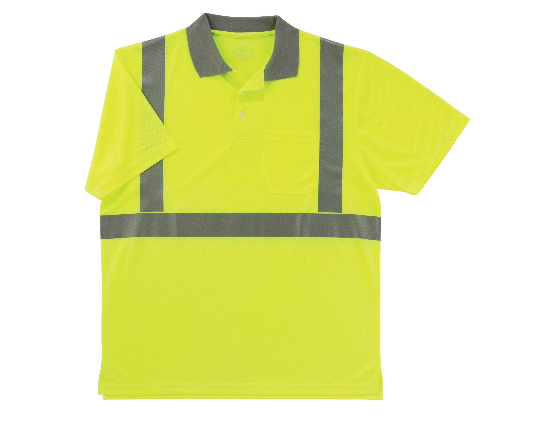 Ergodyne GloWear 8295 ANSI High Visibility Lime Reflective Polo Shirt 5X-Large