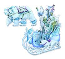 Paper D'Art X3D007 3D Pop Up Ice Queen Christmas Greeting Card