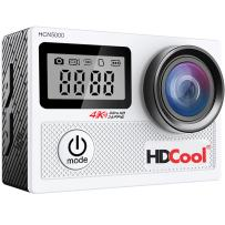 HDCool Action Camera 170° Wide-Angle Lens 4K 20MP Waterproof Sports Camera, 2.0 Inch LCD Display with 0.96 Inch Front Screen,Included 2 Rechargeable 1050 Mah Batteries