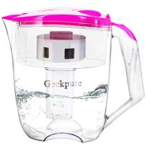 Geekpure 6 Stage 10 Cups Water Filter Pitcher 0.01 Mic Filtration Reduce 99% Hardness Cadmium Chlorine Lead Fluoride-BPA Free