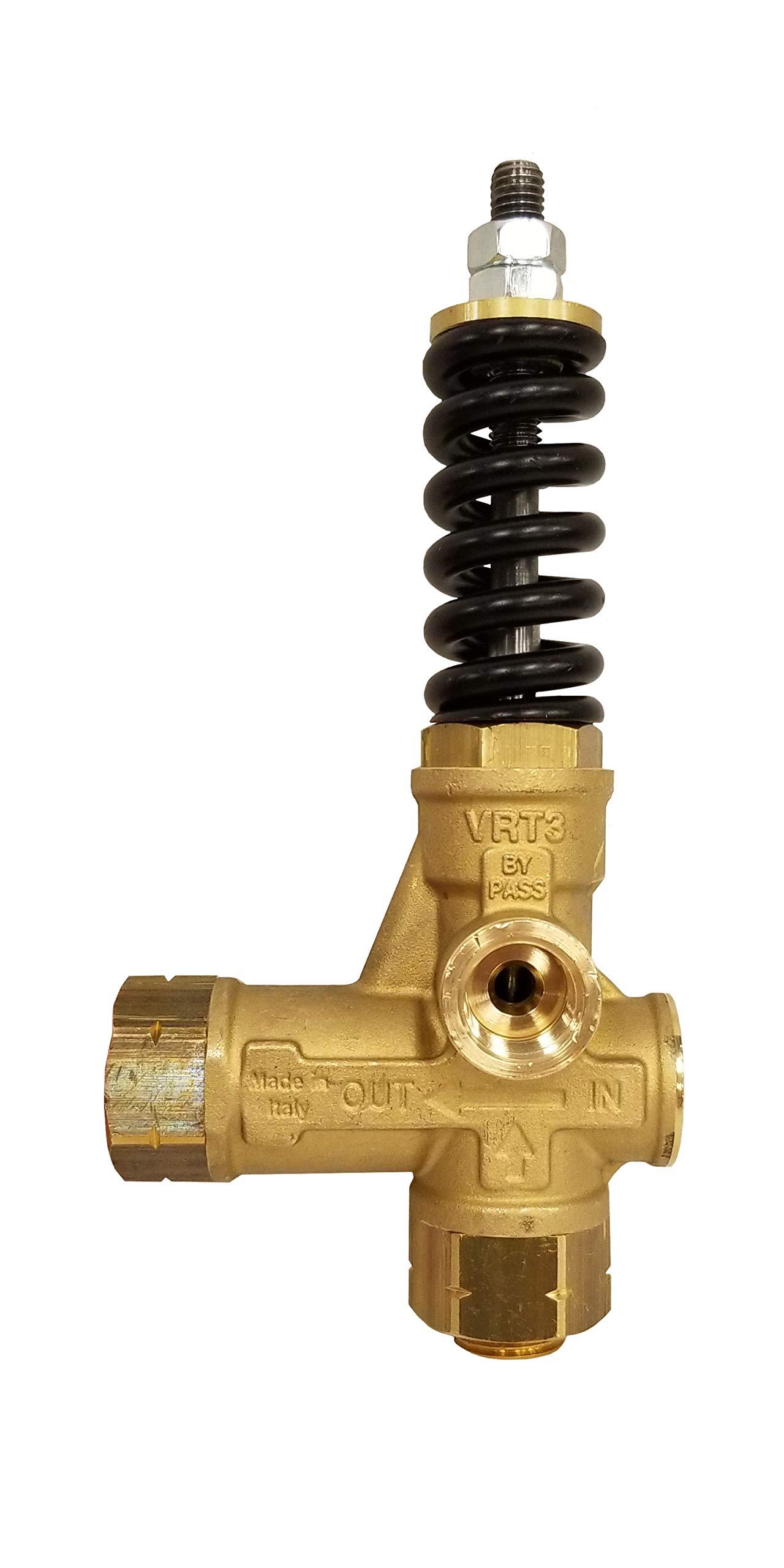 AR Annovi Reverberi VRT3-310A Pressure Washer Unloader, Black, 4500 PSI, No Knob, Brass