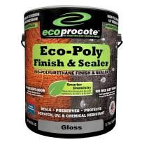 Eco-Poly Polyurethane Sealer, Floor Finish, Wood Floor, Concrete, Tile, Grout Sealer, Non-Toxic Water-Based, Gloss, 1 Gallon