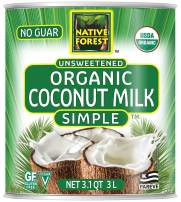 Native Forest Simple Organic Unsweetened Coconut Milk, 101 Ounce (Pack of 1)