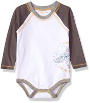 Burt's Bees Baby Baby Boys, Short Long Sleeve One-Piece Bodysuits, 100% Organic Cotton