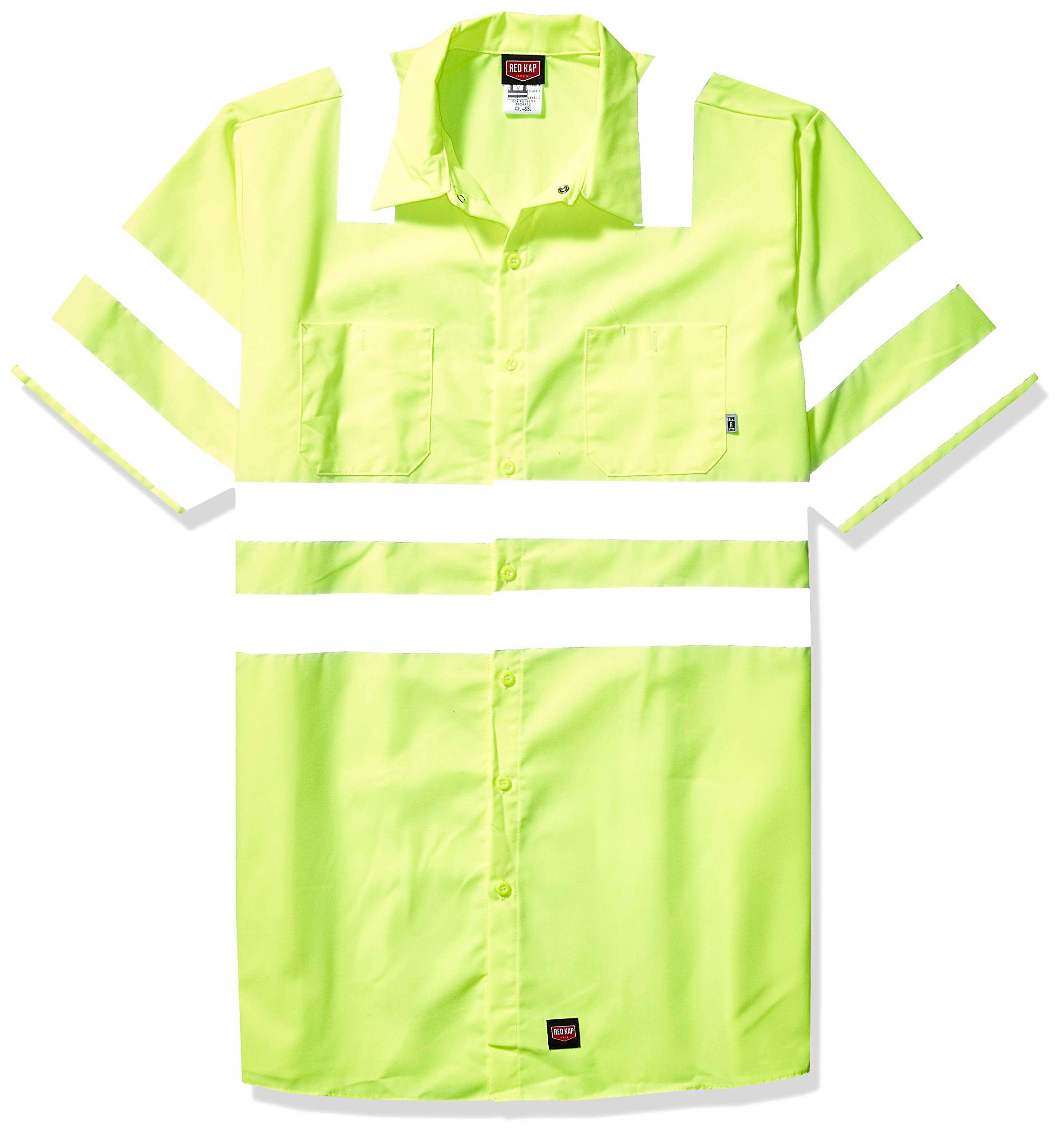 Red Kap Men's Hi-Visibility Short Sleeve Ansi Class 3 Level 2 Work Shirt