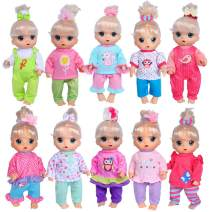 ebuddy Total 10-Sets Doll Clothes Outfits Accessories for for 10-inch Baby Dolls /12-inch Alive Baby Dolls New Born Baby Dolls