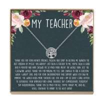 Teacher Gift Necklace: Teacher Appreciation Gift, Thank You