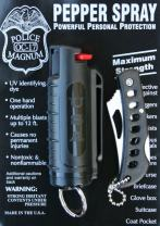 POLICE MAGNUM Keychain Pepper Spray for Self Defense- Injection Molded Cases