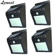 LYMXXL Outdoor Solar Light Motion Sensor Wall Light 30Leds Waterproof Wireless Wall Light Security Night Lights Outdoor Light for Patio, Deck, Yard, Garden with Motion Activated Auto On/Off (4packs)