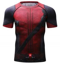 Red Plume Men's T-Shirt Compression Adult Top Short Sleeve Quick Dry Base Layers Shirt