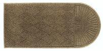 "M+A Matting 22248 Waterhog Eco Grand Premier PET Polyester Fiber Single End Entrance Indoor/Outdoor Floor Mat, SBR Rubber Backing, 5-1/2' Length x 3' Width, 3/8"" Thick, Khaki"