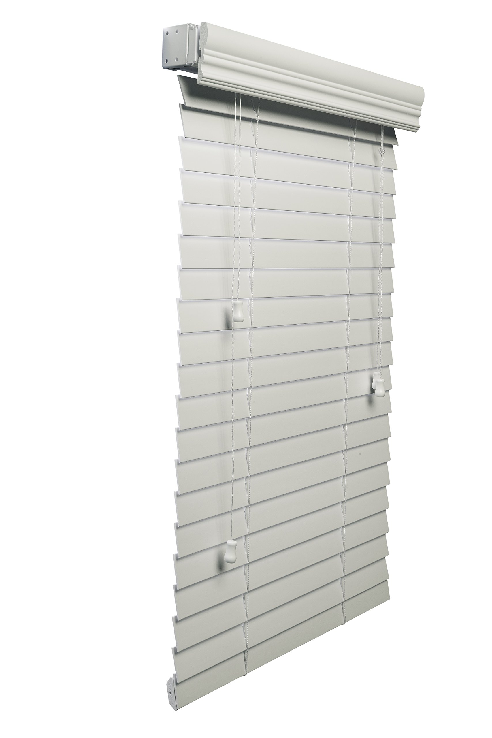 Lotus & Windoware 2-Inch Faux Wood Blind, 16 by 72-Inch, White