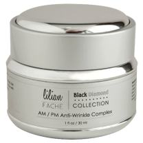 AM/PM Face Moisturizer Anti-Aging Wrinkle Complex by Lilian Fache - Black Diamond Dust Infused - Skin Repair, Deep Wrinkle, Fine Line Correction and Collagen Restoring Cream, 1oz./30ml