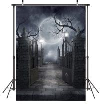 LYWYGG Halloween Horror Night 5X7FT Moon Night Backdrop Pictorial Cloth Photography Background Computer-Printed Vinyl Backdrop CP-52-0507