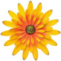 Sunflower Metal Flowers Wall Decor Metal Wall Art Decorations Hanging For Indoor Outdoor Home Bathroom Kitchen Dining Room Bedroom Living Room Or Wall Sculptures 12 Inch