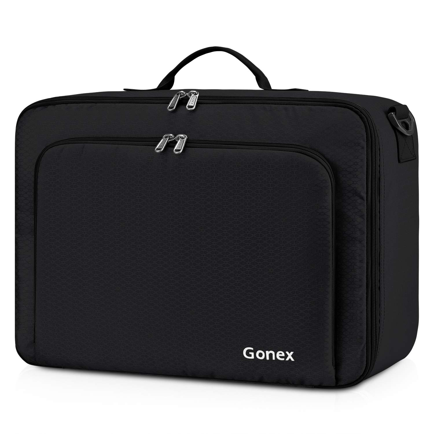 Gonex Travel Duffel Bag, Portable Carry on Luggage Personal Item Bag for Airlines, Water& Tear-Resistant 20L Black