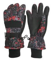 N'Ice Caps Kids Cold Weather Waterproof Thinsulate Camo Print Winter Gloves