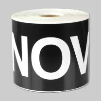 """6"""" x 3"""" - 1 Roll November Months of The Year Labels Color Coding Self Adhesive Stickers (Black White) - 300 Labels per Package"""