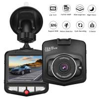 """HK Dash Cam for Cars with Night Vision Vehicle Driving Recorder Mini Dashboard Camera 2.4"""" LCD Screen 170 Degree Wide Angle, Parking Monitor, G-Sensor, WDR, Loop Recording, Motion Detection, Black"""