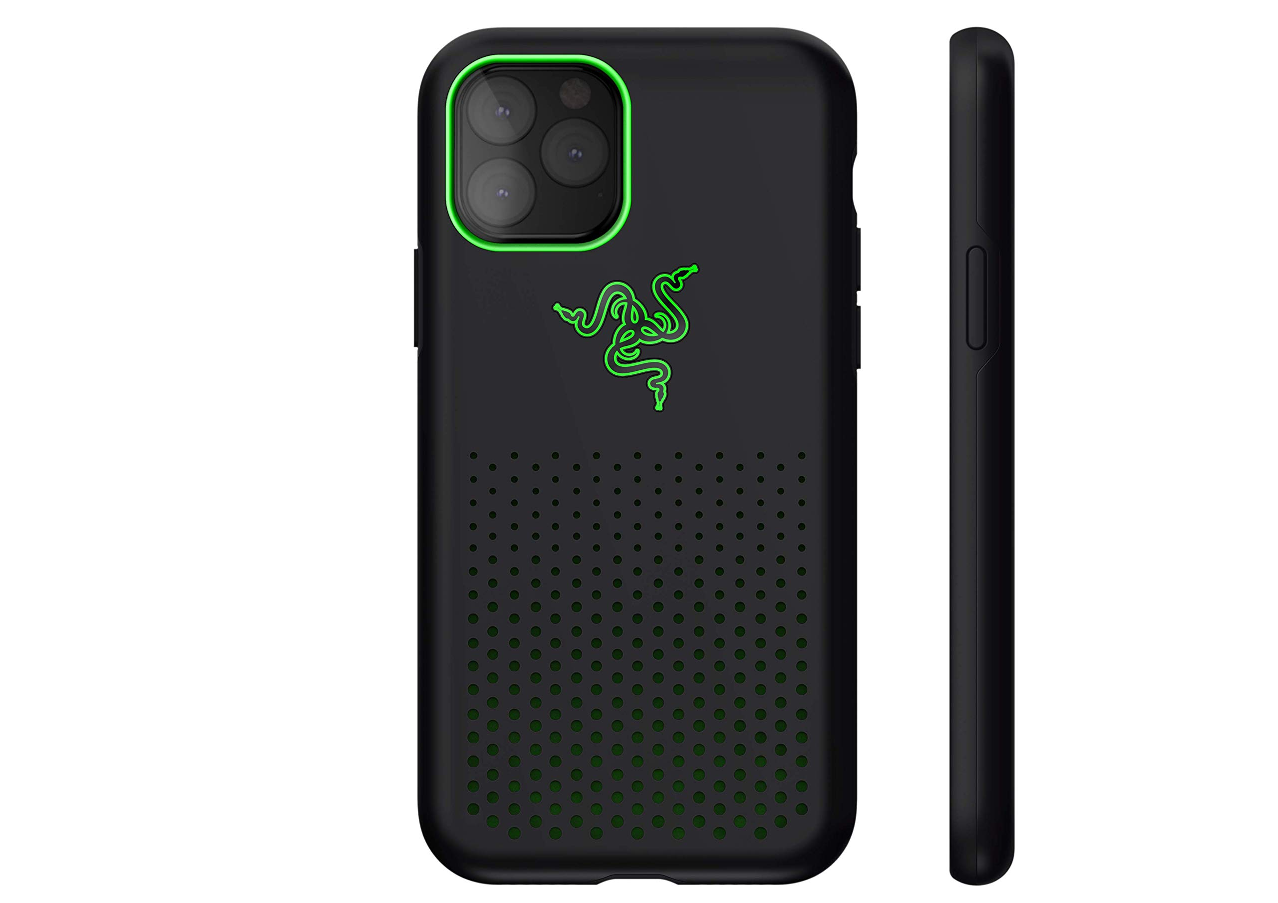 Razer Arctech Pro THS Edition for iPhone 11 Pro Case: Thermaphene & Venting Performance Cooling - Wireless Charging Compatible - Drop-Test Certified up to 10 ft - Matte Black