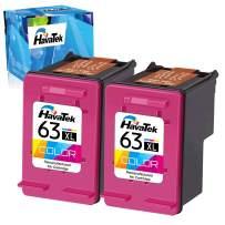 HavaTek Remanufactured Ink Cartridge Replacement for HP 63 XL 63XL Used for HP Envy 4520 4153 4511 4510 Officejet 3830 5255 4650 5258 3834 4655 Deskjet 1112 3639 3636 Printer (2 Color, 2 Pack)