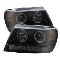 Spyder Auto PRO-YD-JGC99-HL-BSM Jeep Grand Cherokee LED Halo Projector Headlight