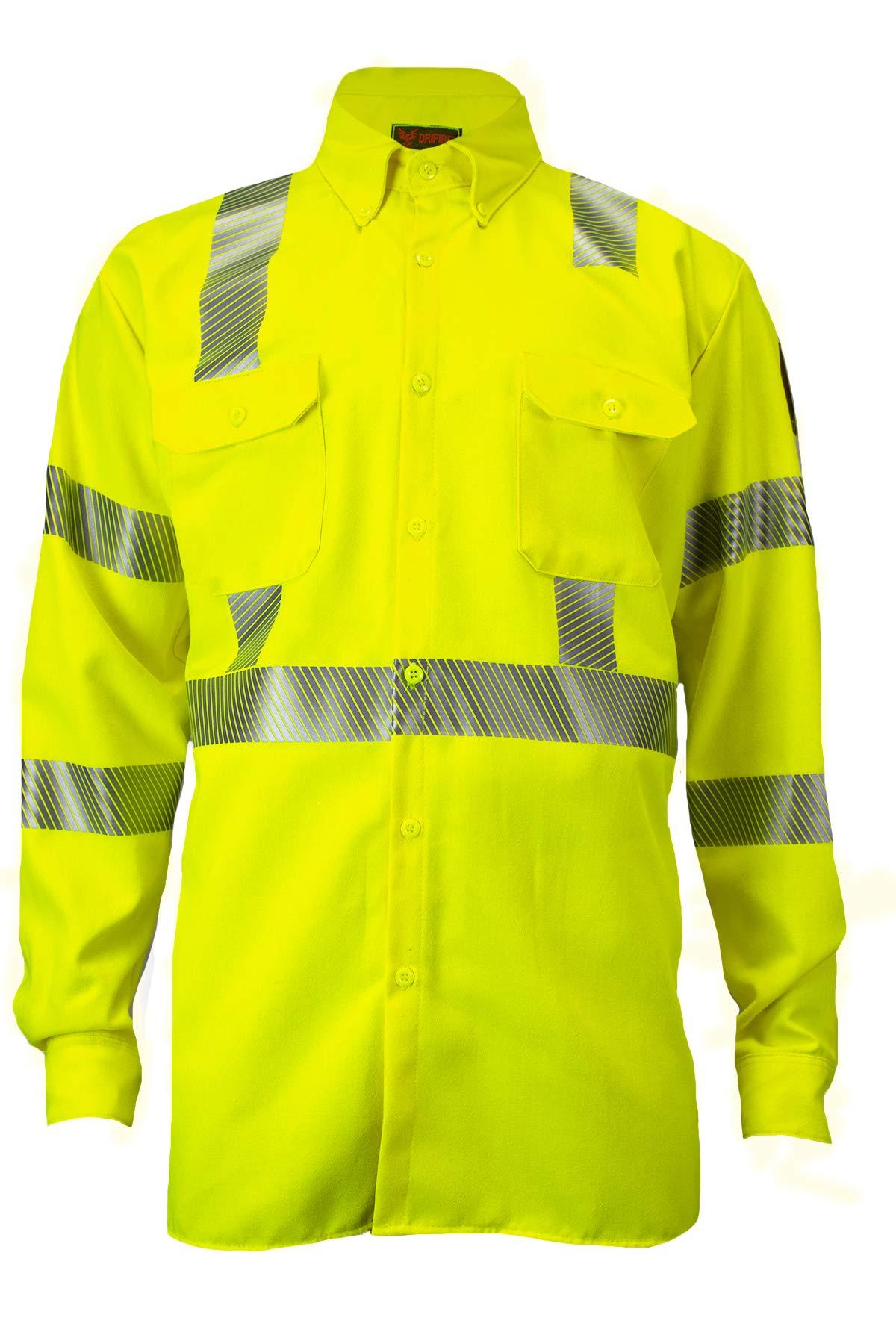DRIFIRE High Performance FR Flame Resistant Hi-Vis Utility Shirt Electrical Industrial 7 oz. Lightweight CAT2