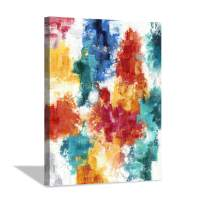 Colorful Picture Canvas Wall Art: Summer Bright Water Color Painting Artwork for Bedrooms (30'' x 40'' x 1 Panel)