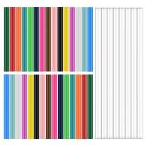 Hot Glue Stick,90pcs,Mini Hot Glue Sticks for Glue Gun,EVA Sealing Wax Sticks for DIY Art Craft,Transparent 30pcs,0.28inx7.87in; Colored 60pcs,15 Colors,0.28inx3.94in.