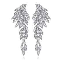 mecresh Vintage Style Wedding Crystal Rhinestone Cluster Chandelier Hollow Dangle Earrings