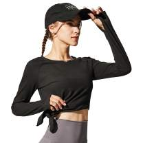 OA ONRUSH AESTHETICS Women's Yoga Gym Workout Long Sleeve Shirt Quick Dry Athletic Shirts