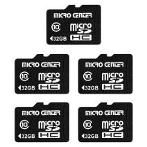 Micro Center 32GB Class 10 Micro SDHC Flash Memory Card with Adapter for Mobile Device Storage Phone Tablet Drone (5 Pack)
