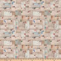 FreeSpirit Fabrics Tim Holtz Eclectic Elements Letter Neutral Fabric By The Yard